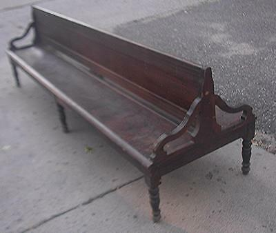Antique Railroad Station Bench Rare Double Sided