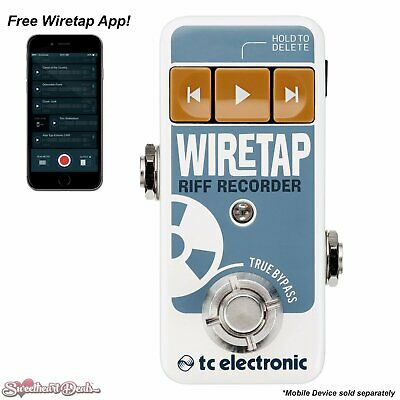 TC Electronic Wiretap Riff Recorder Guitar & Bass Pedal with iOS & Android APP