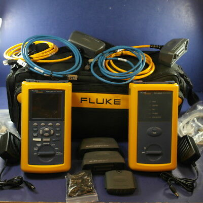 Fluke DSP-4300 Cable Analyzer with 4300-SR Smart Remote & Accessories