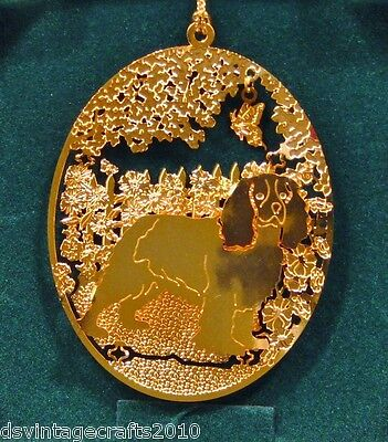 Cavalier King Charles Spaniel 24k Gold Plated Ornament New By Kingsheart Forge