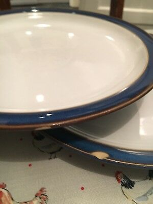 Denby Imperial Blue Dinner Plates X 2