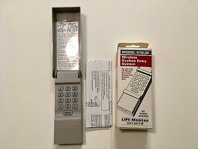 Liftmaster 976lm Wireless Keypad Security Plus Garage Door Opener