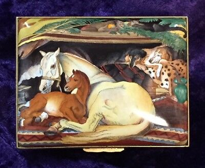 "Halcyon Days Enamels – LIMITED ED – Edwin Henry Landseer ""The Arab Tent"" Box"