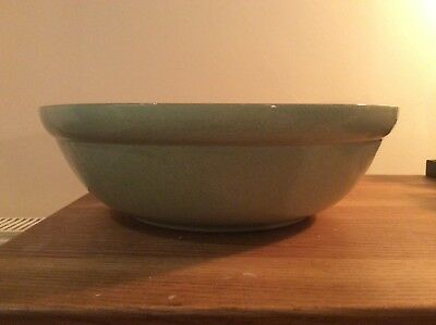 Denby Energy Green/cream Large Salad/pasta Serving Bowl 11.5 Inches