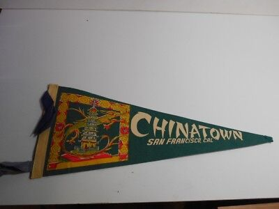 VINTAGE SOUVENIR/TRAVEL PENNANT (1950s-1960s) FOR SAN FRANCISCO CHINATOWN WITH C