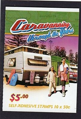 2007 AUSTRALIAN STAMP BOOKLET CARAVANNING YEARS 1980's 10 x 50c STAMPS MUH