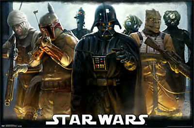 Star Wars Darth Vader Bounty Hunters Group Collage 36 x 24 Inch Movie Poster