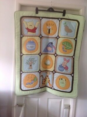 Winnie The Pooh Baby 3D Quilt Playmat Crib Cot Nursery Tiger Piglet Hand Made