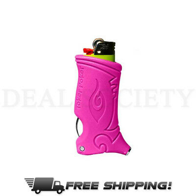 Toker Poker All Inclusive Smokers Tool Lighter Case - Pink