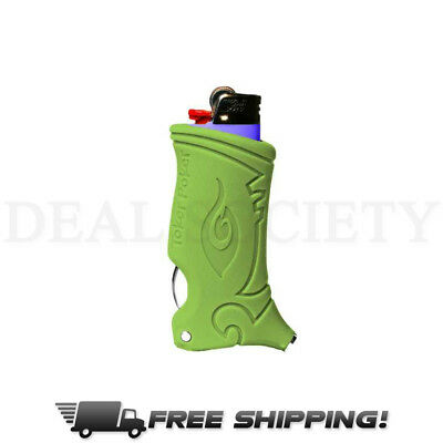 Toker Poker All Inclusive Smokers Tool Lighter Case - Green
