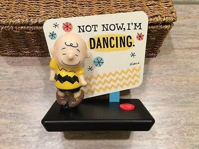 "Hallmark Peanuts Charlie Brown Figurine with Sound "" Not now, I'm Dancing"""