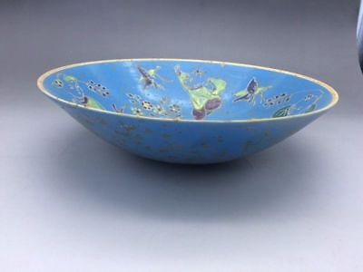Chinese ancient ceramic bowl pure manual painting children figure