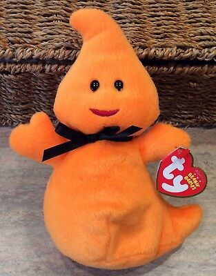"""TY Beanie Babies 2010 Ghost """"Haunt"""" - New - Adorable!"""