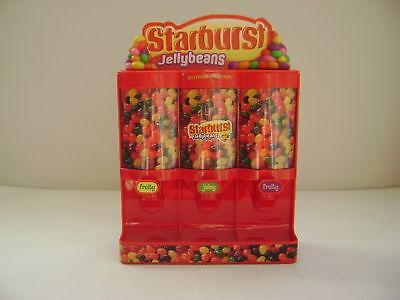 STARBURST JELLY BEAN  JELLYBEAN CANDY DISPENSER, PLASTIC Works