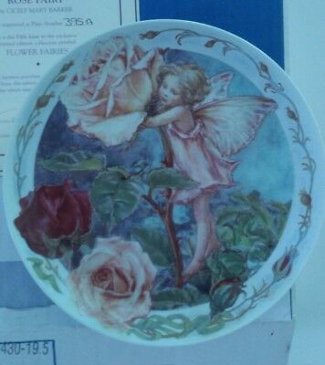 Cicely Mary Barker, Rose Fairy, Flower Fairies, Collectable Plate, Mint, Limited