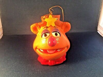 Vintage 1979 Muppet Show Christmas Holiday Ornament: Fozzie Bear from Jim Henson