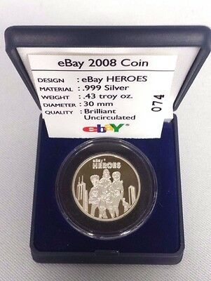 2008 eBay Live Chicago Heroes .999 Silver Limited Edition Coin