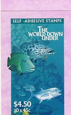 1995 AUSTRALIAN STAMP BOOKLET THE WORLD DOWN UNDER 10 x 45c STAMPS MUH