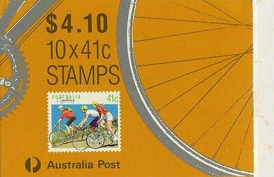 1989 AUSTRALIAN STAMP BOOKLET CYCLING (TWO KOALA PRINT) 10 x 41c STAMPS MUH