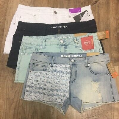 NWT LOT of 4 Mossimo Target Shorts Sizes 7 11 6/28 - Fit6