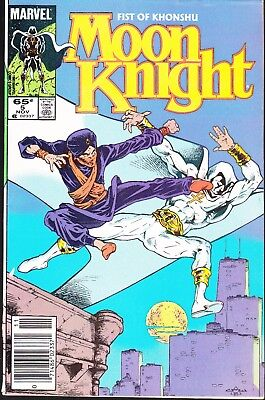 Moon Knight  #5 1985 -Fist Of Khonshu- Debts/balances  Duffy/ Warner...fn/fn-