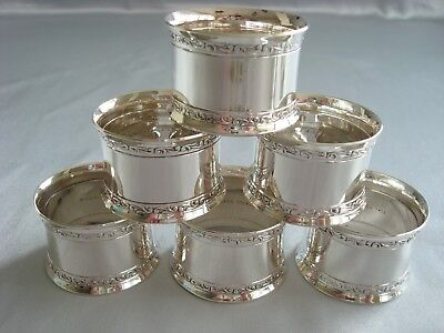 WALLACE 'MY LOVE' sterling silver SET OF 6 NAPKIN RINGS - 2 SETS AVAIL-FABULOUS!