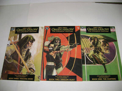 Green Arrow Longbow Hunters 1-3 Lot COMPLETE DC Comics 1987 Mike Grell NM