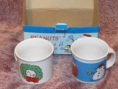 Peanuts Christmas COCOA MUGS Set of 2 IN BOX SNOOPY CHARLIE BROWN