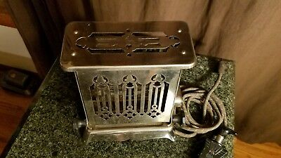 EDISON ELECTRIC APPLIANCE Antique HOTPOINT 115T17 TOASTER Works Great!! 1910's