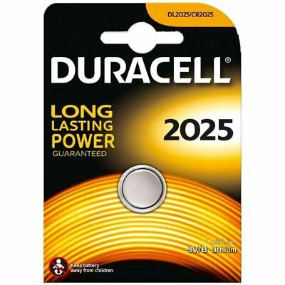 New Duracell CR2025 3V Lithium Coin Cell Battery 2025 DL/BR2025 Longest Expiry