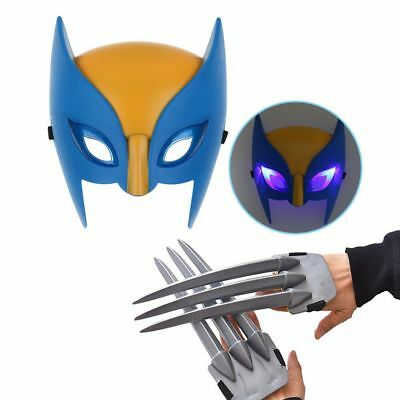 Wolf Wolverine Claws Plastic Toys + Wolverine Mask Cosplay Props Christmas Gift