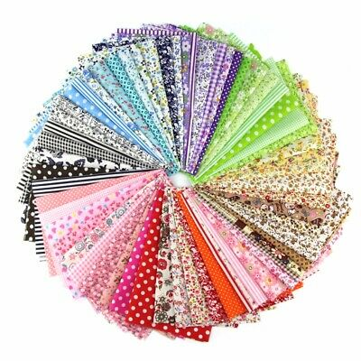 15-60pcs  Fabric Bundle Cotton Patchwork Sewing Quilting Tissues Cloth DIY Style