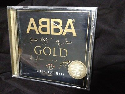 Abba Gold Greatest Hits Limited Edition Issue Signatures On Cd Front In Gold