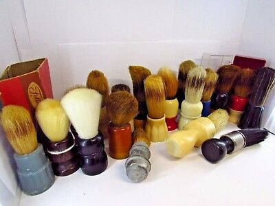 Large Lot of 19 VIntage Shaving Brushes!