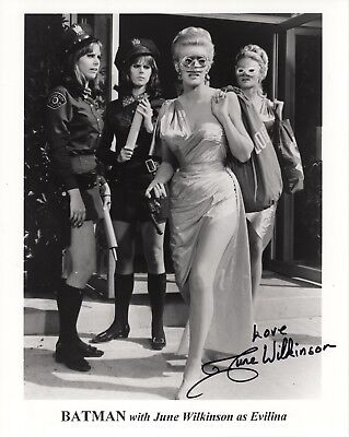 JUNE WILKINSON HAND SIGNED 8x10 PHOTO+COA      AWESOME POSE  EVILINA FROM BATMAN