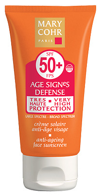 Neuf Sous Boite Mary Cohr Creme Solaire Anti-Age Visage Spf 50+ / 50 Ml