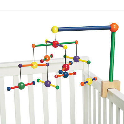 NEW Manhattan Toys Skwish Coloured Wood Cot Baby Mobile Toy 0m+