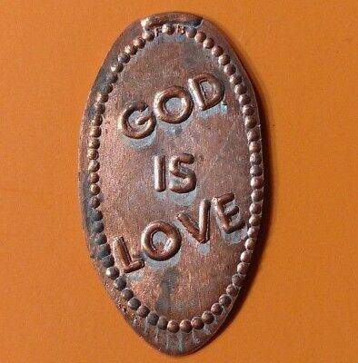 GOD IS LOVE Religion Elongated Pressed Penny Coin