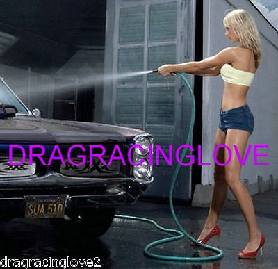 "SUPER ULTRA Hot ""Car Wash"" Car Babe and Pontiac GTO ""Pin-UP"" PHOTO! CROP"