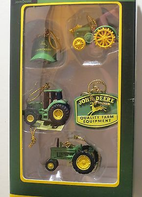 Enesco John Deere 5 Piece Mini Ornament Set MIB NFRB #1