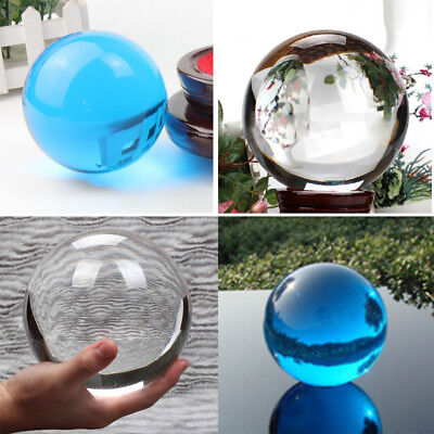 40/60/80mm Crystal Glass Ball Magic Healing Meditate Sphere Photography Superior