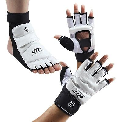 Adult/Kids Taekwondo Gloves Sparring Hand Foot Protector Cover Boxing Gloves AU