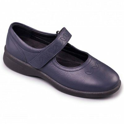 Padders HARP Ladies Womens Leather Extra Wide Fitting Comfort Shoes Nude 2E//3E