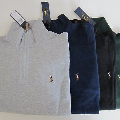 Polo Ralph Lauren Estate Rib Quarter-Zip Mockneck Pullover Sweater