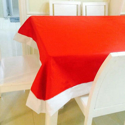 Home Holiday Christmas Xmas Art Decor Red Rectangle Table Cloth Cover Runner BDP