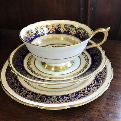 Fine Bone China Trio, Paragon Double Warrant Made In England