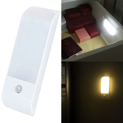 Rechargeable 12 LED USB PIR Motion Sensor Induction Closet Wall Light Night Lamp