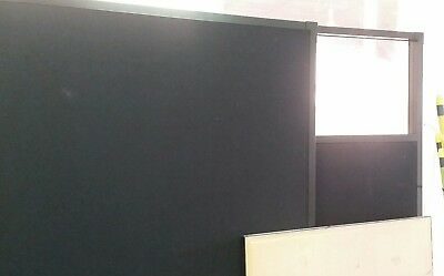Office Partition Divider black 1500mm wide, 1800mm high, 55mm thick
