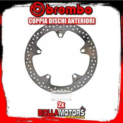 2-68B407D7 Pair Front Brake Discs Brembo Bmw R 1150 Rs 2001-2005 1150Cc Fixed