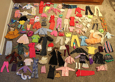 12 Inch Doll Outfits/Clothes Lot of 100 pcs. - Will Fit Barbie Dolls